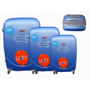 Großhandel Koffer & Trolleys:Reisekoffer blau 3er 886