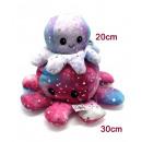 Großhandel Puppen & Plüsch: Oktopus Plüsch doppelseitiges Flip, Glitzer 20cm