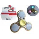 wholesale Toys: Finger gyro fidget  spinner metallic look with 3 L