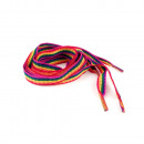 ingrosso Accessori per scarpe: lacci a strisce colorate in