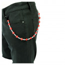 wholesale Skirts: Rockabilly wallet  chain with cubes in red
