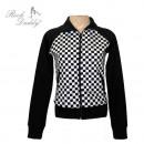 ingrosso Cappotti e giacche: giacca Girlie con  motivo a quadri nero / bianco