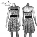 wholesale Skirts: Leo dress in white / black