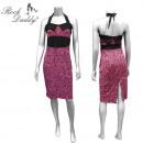 wholesale Skirts: Leo dress in pink / black halter dress