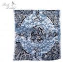 Großhandel Bettwäsche & Matratzen: Bettdecke groß in blau mit Muster