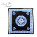 Großhandel Bettwäsche & Matratzen: Bettdecke groß in  blau mit einer runden Blume