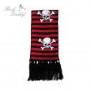 Scarf in  chattering / red  striped with white ...