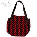 ingrosso Borse & Viaggi: Shopping bag in  nero con teschio rosso, ha