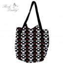 ingrosso Borse & Viaggi: Shopping bag in  nero con il cranio, cuore, K