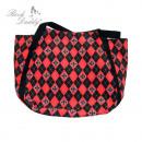 ingrosso Borse & Viaggi: Shopping bag in  nero / modello diamante rosso con
