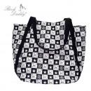 ingrosso Borse & Viaggi: Shopping bag in  diamanti bianco / nero con teschi