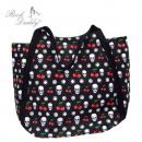 ingrosso Borse & Viaggi: Shopping bag in  nero con teschi, ciliegia
