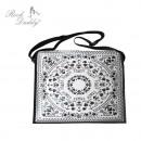 ingrosso Borse & Viaggi: Paisley bag PU bianco / nero