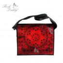 ingrosso Borse & Viaggi: Paisley bag PU nero / rosso