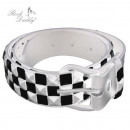 wholesale Skirts: Belt with pyramids  3-rowed in white / black