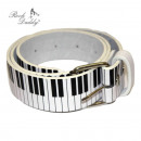 wholesale Skirts: Belt in white with piano keys