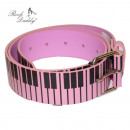 wholesale Skirts: Belt in pink with piano keys