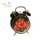 grossiste Maison et habitat: Horloge sonnette  d'alarme avec des flammes rou