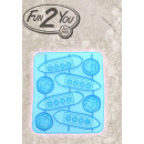 wholesale Puzzle: Titanic ice cube molds in blue