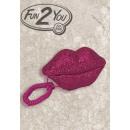 groothandel Telefonie: Lips strass telefoon in roze