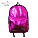 Rucksack in metallisch pink