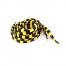 ingrosso Accessori per scarpe: lacci a strisce in nero / giallo