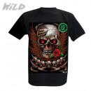 Großhandel Shirts & Tops: Wild Skull & Rose Glow in the Dark
