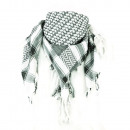 wholesale Scarves & Shawls: PLO cloth in White / Black