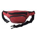 Bauchtasche mit Fronttasche Reißverschluss - Nappa