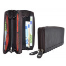 wholesale Wallets: Large Damenbörse - 2 zips around - Full