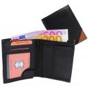 wholesale Wallets: Wallet Wallet black / tan - Corner