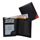 wholesale Wallets: Purse Wallet Black / Red - Corner