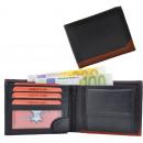 wholesale Bags & Travel accessories: Wallet Wallet black / tan - Stripe