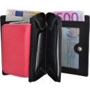 Small Women's wallet with zip - black / pi