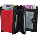 wholesale Wallets: Small Women's wallet with zip - black / ro