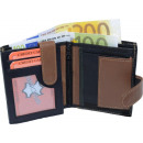 Wallet with outdoor bar black / tan