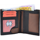 wholesale Wallets: Wallet Wallet (small) black / tan