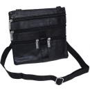 Großhandel Handtaschen: Schultertasche (Neck-Wallet) Lamm Nappa Leder - sc