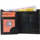 Geldbörse Nappa-Leder Kombibörse (klein) schwarz