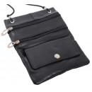 Großhandel Taschen & Reiseartikel: Brustbeutel Lamm Nappa - schwarz