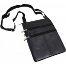 wholesale Travel Accessories: Brustbeutel Accessories lamb leather - black