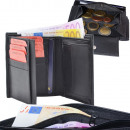 Wallet Nappa leather zipped bill compartment