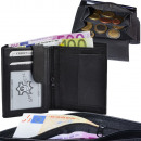 wholesale Wallets: Wallet Nappa leather zipped bill compartment