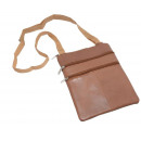 wholesale Travel Accessories: Brustbeutel Accessories lamb nappa - darktan