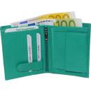 wholesale Wallets: Wallet Nappa leather combi turquoise uni