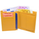 wholesale Bags & Travel accessories: Wallet Nappa leather wallets yellow uni