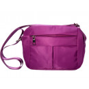 wholesale Travel and Sports Bags: Small sporty shoulder bag - purple - nylon