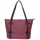 wholesale Wines & Accessories: Noble Shopper / Tote Bag - burgundy with black