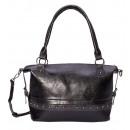 Shoulder bag / shoulder bag - black gray