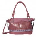 Shoulder bag / shoulder bag - burgundy light gray